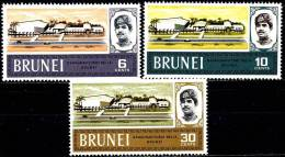 BRUNEI 1968  YOUTH CENTER SC# 159-161 VF MNH ARCHITECTURE (5DEL0367) - Brunei (1984-...)