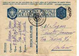 405 SCAT.1 - FRANCHIGIA PER FF.AA. - 1941 -  COMANDO 7° BATTAGLIONE... - 1900-44 Vittorio Emanuele III