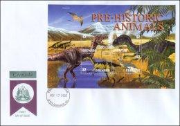 Grenada 2003  Sheet/4 Dinosaurs Prehistoric #3387- Allosaurus First Day Cover - Grenada (1974-...)