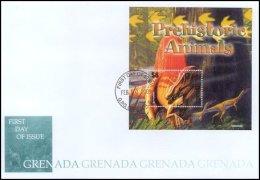 Grenada 2005 Souvenir Sheet Dinosaurs Prehistoric #3498 Spinosaurus First Day Cover - Grenada (1974-...)