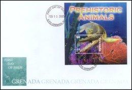 Grenada 2005 Souvenir Sheet Dinosaurs Prehistoric #3499 Pliosaur First Day Cover - Grenada (1974-...)