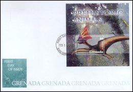 Grenada 2005 Souvenir Sheet Dinosaurs Prehistoric #3500 Tapejara Imperator First Day Cover - Grenada (1974-...)