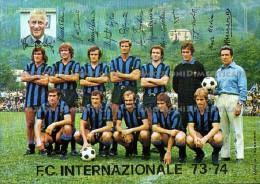 Inter Internazionale Milano Calcio Squadra Campionato 1973 1974 Autografi Stampati - Calcio