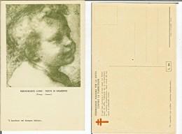 Bernardino Luini - Testa Di Bambino (Parigi Louvre). Cartolina Fp Anni '30-'40 Federazione Italiana Lotta Tubercolosi - Ritratti