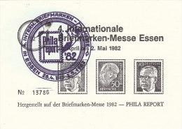 Vignette, Werbemarke  Zur 4. Int. Briefmarken-Messe Essen 1982, Gestempelt - Erinnofilia