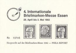 Vignette, Werbemarke  Zur 4. Int. Briefmarken-Messe Essen 1982, Ungestempelt - Erinnofilia