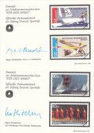 Vignette, Entwürfe Der Sportmarken BRD 1310, BERLIN 777, 1987, Segeln, Turnen - Erinnofilia