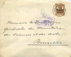 1916?  Lettre  De Courcelles Pour Bruxelles -  Censure De Charleroi - Guerre 14-18