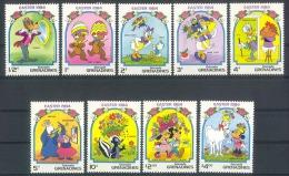 Myu467 WALT DISNEY DONALD GOOFY STINKDIER PAARD HOEDEN EASTER SKUNK HORSE HATS FLOWERS GRENADA GRENADINES 1984 PF/MNH - Disney