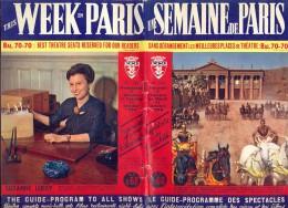 Tijdschrift Guide Programme Des Spectacles - Une Semaine De Paris - Films Théatre 1960 - Informations Générales