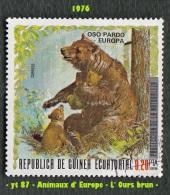 1976 - Afrique - Guinée équatoriale - 0.20 Pta. Ours Brun -