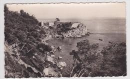 (RECTO / VERSO) TOULON  EN 1955 - CAP BRUN - N° 412 - CALANQUE DE LA BATTERIE BASSE - BELLE FLAMME - Toulon
