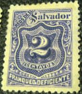 El Salvador 1898 Postage Due 2c - Mint - El Salvador