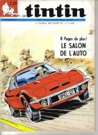 TINTIN   N° 1092  -  DENAYER -   DARGAUD -   OCTOBRE 1969 ( LE SALON DE L'AUTO ) - Tintin
