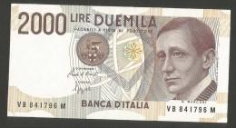 REPUBBLICA ITALIANA - 2000 Lire MARCONI - (Firme: Ciampi / Speziali - 1992) - FDS - [ 2] 1946-… : Repubblica