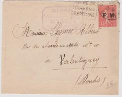 Lettre Avec TP Franchise Militaire De Dinan Pour Valentigney En 1931 - Marcophilie (Lettres)