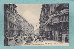 GENEVE  -  RUE  DU  MARCHE  ( Marchée )  -  1907-  BELLE CARTE   ANIMEE  - - GE Geneva