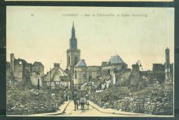 Cambrai - Rue De L'arbre D'or Et Eglise Saint Géry  Bcz138 - Guerre 1914-18