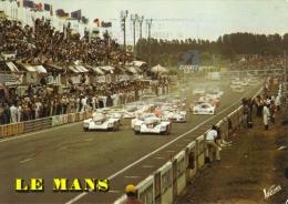 24 Heures Du Mans  -  Le Depart De La Célèbre Course Automobile  -  Carte Postale - Sport Automobile