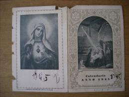 Calendario/almanacco Santino ANNO 1945. Libreria DAVERIO. - Calendari