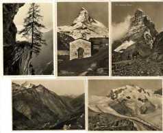 ZERMATT    LOT 10 CARTES ANCIENNES FORMAT CPM 1940 / 50 - VS Valais