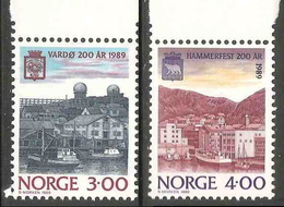 Norway Norge Norwegen 1989 Mi 1015 YT 972 ** Harbour Of Vardø – Bicentenary Town / Hafen Von Vardø / Port / Haven - Transportmiddelen