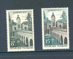 France 1957 Le Quesnoy MNH ** Yvert 1105/6 - France