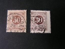 == Schweden Lot 2 Old Stamps   Color Shades - Oblitérés