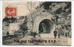 -  1 - BARJOLS - Var - Entrée  Du Tunnel En 1909, Super Animation, Enfants, Très Rare, écrite, TBE, Scans. - Barjols