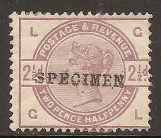 Grande-Bretagne (GB) Victoria 1883 - 2,5d Specimen Neuf (MH) - 1840-1901 (Victoria)