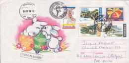 Roumanie, Entier Postal Illustré, Scoutisme, Baden-Powell, Bande Dessinee, Lapins, Oeufs, Paques, 1999, - Scouting