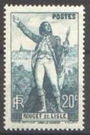 France N°  314 ** Rouget De LISLE - Sa Statue à Lons Le Saulnier - Frankreich