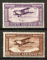 EGYPT 1926 AIR SET SG 132/133 MOUNTED MINT Cat £18.25 - Unused Stamps