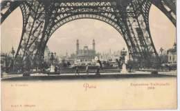 113/75 - CPA PARIS -  Exposition Universelle 1900 - Le Trocadéro Vu Du Pied De La Tour Eiffel - Expositions