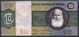 Brésil P 193b  10 Cruzeiros 1974  - C138 N° A 07388091354 - Brésil