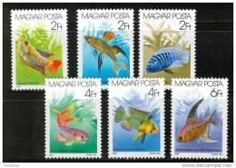 HUNGARY-1987. Fishes Cpl.Set MNH!! - Pesci