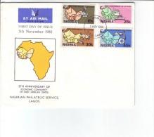 Nigeria FDC 1980 5´th Anniversary Of Ecowas - Nigeria (1961-...)