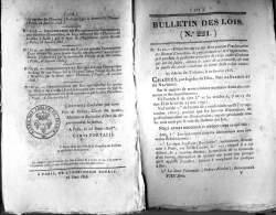 Bulletin Des Lois (Law Gazette) Du 26 Mars 1828 - 185 Ans D'âge ! - Proclamation De Brevets D'invention (Didot, Lithotyp - Décrets & Lois