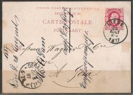 BELGIEN - HEIMATBELEG 1887 - 1884-1891 Leopold II.