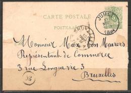 BELGIEN - HEIMATBELEG 1884 - 1869-1888 Lion Couché (Liegender Löwe)