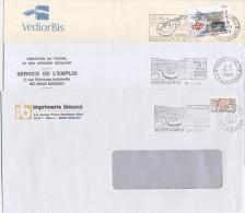 """3 Flammes Différentes """" CONCERTS à MONTE-CARLO """" 1997, 1998 Et 1999 - Postmarks"""
