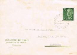4076. Tarjeta Privada MONASTERIO POBLET (Tarragona) 1959 - 1931-Hoy: 2ª República - ... Juan Carlos I