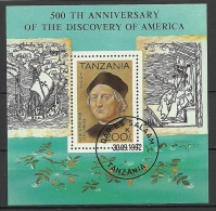 TANZANIA 2002 Block Christopher Columbus Discovering America 500. Anniversary O - Tanzania (1964-...)