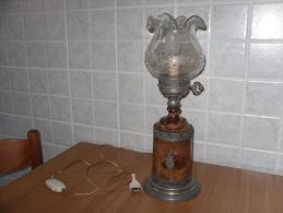 Lampada In Onice Antica Perfetta. - Vetro & Cristallo