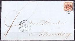 Brieffragment, EF Krone, Kjobenhavn Nach Flensborg, AK-Stempel? 1860 (40623) - 1851-63 (Frederik VII)