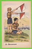 """J. IDRAC - Le Semaphore (Mention """"par Autorisation Spéciale Du Q.G. Scout"""" Au Verso) - Illustratoren & Fotografen"""