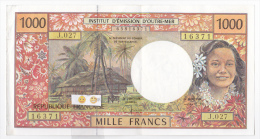 Polynésie Française / Tahiti - 1000 FCFP - J.027 / Signatures Severino-Redouin-Teyssre - TTB+ - Papeete (Polynésie Française 1914-1985)