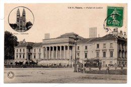 CP, 37, TOURS, Palais De Justice, Voyagé - Tours