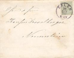 Württ. 44 A EF Auf Brief Mit Stempel: Aalen 31.DEz 1885 Nach Neuenstein, Geprüft - Wuerttemberg