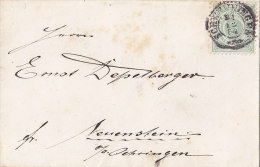 Württ. 44 A EF Auf Brief Mit Stempel: Schwenningen 31.12.1884, Geprüft - Wuerttemberg